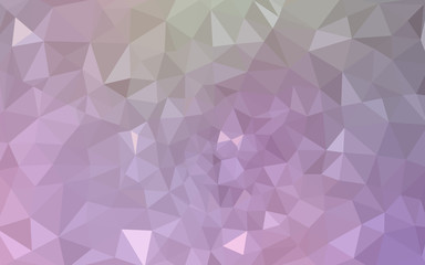 Multicolor pink, green polygonal design pattern, which consist of triangles and gradient in origami style.