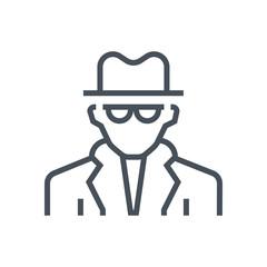 Spy, detective icon