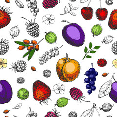 Seamless vector hand drawn pattern