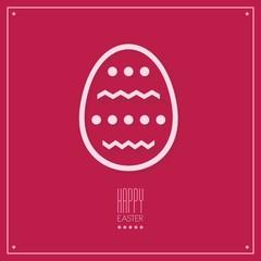 Flat style Easter egg, vector illustration.