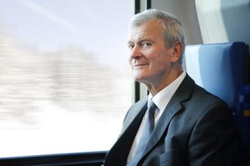 Senior businessman traveling