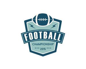 Flat Vintage Football Logo