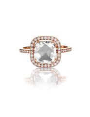 Cushion Cut Diamond Wedding band engagement ring