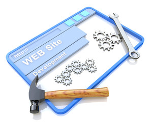 Website development. WWW with tools