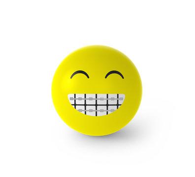 Smiley mit Zahnspange