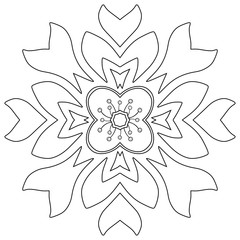 Floral ornament. Coloring page