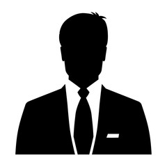 Businessman icon, silhouette avatar profile picture