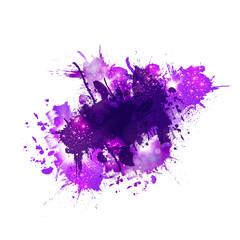 Multicolored watercolor splash blot easy editable