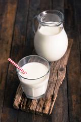 Fresh milk on the table
