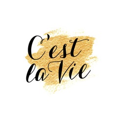French hand lettering. Handmade calligraphy.