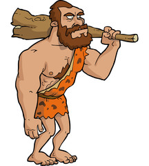 Caveman with club