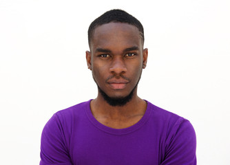 Serious looking young african man