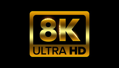 8k ultra hd icon