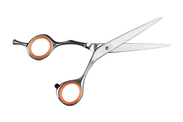 Papier Peint - Professional haircutting scissors isolated on white background