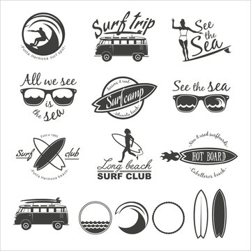 Surfer vector set.