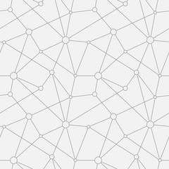 Abstract vector seamless texture. Circles with connections.