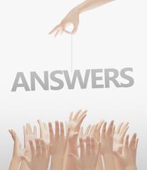 Cercare risposte mani tese