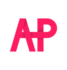 moderm minimalis initial logo AP