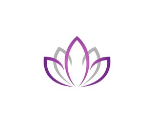 Purple Lotus or Lily Flower for Spa Logo Template