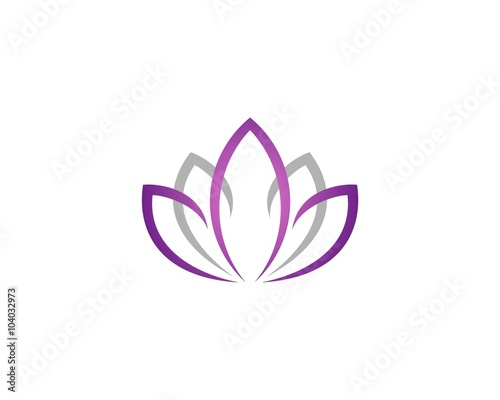 Purple lotus or lily flower for spa logo template stock image and purple lotus or lily flower for spa logo template mightylinksfo