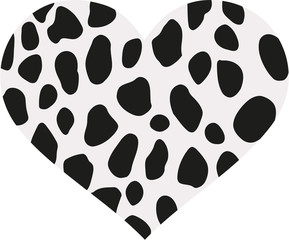 Heart with dalmatian pattern spots