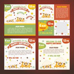 Set invitations birthday