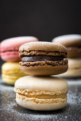 Colorful delicious macarons