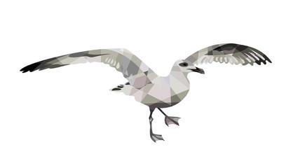 Геометрическая многоугольная птица. Иллюстрация: чайка