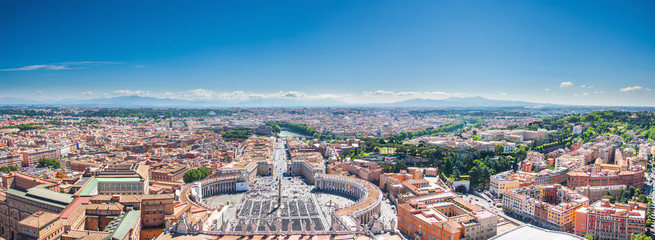 Poster de jardin Rome Rome view from the Saint Peter Basilica