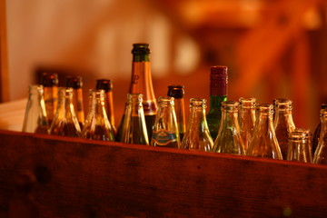 glass bottles in the Pub
