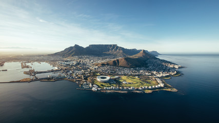 Aerial coastal view of Cape Town, South Africa Wall mural