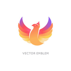 Vector abstract logo design template