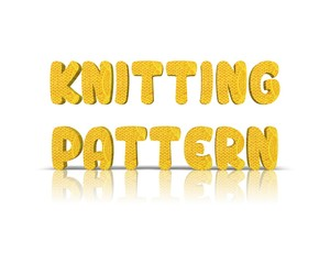 Knitting 3d word