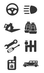 Auto parts icon set part two