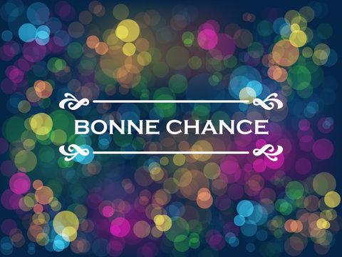 "Carte ""BONNE CHANCE"""