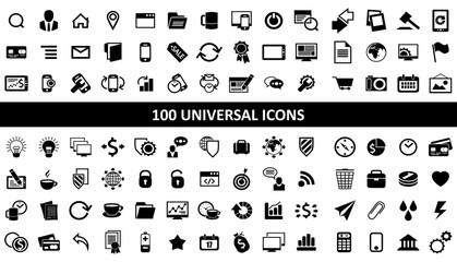 hundred media icons