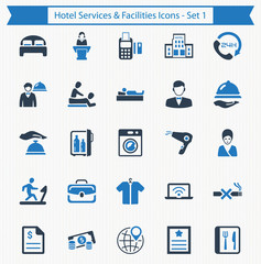 Hotel Services & Facilities Icons - Set 1