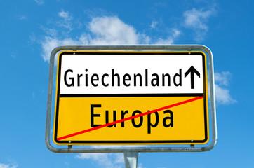 Griechenland/Europa Schild