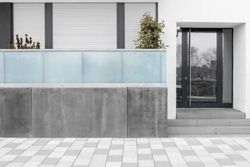 Haustür mit Glaseinsatz Eingang