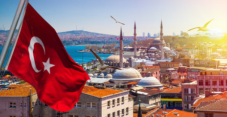 Autocollant pour porte Turquie Istanbul the capital of Turkey, eastern tourist city.