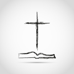 Template logo for the church in the form of a cross