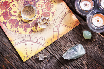 Astrology with crystals