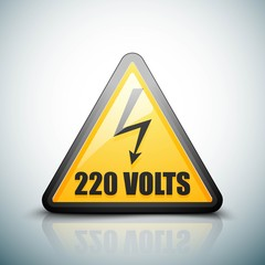 220 Volts hazard sign