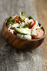 Salad with tomatoes, cucumber and feta