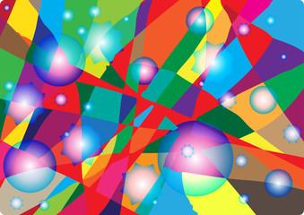 Разноцветный абстрактный фон витража