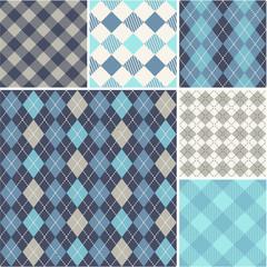 Argyle - seamless set of pattern