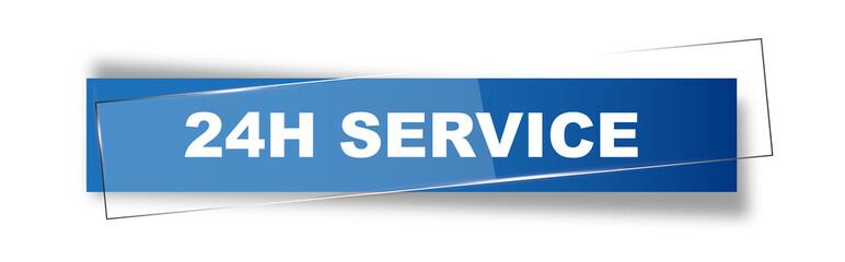 Button   Schild   24h Service