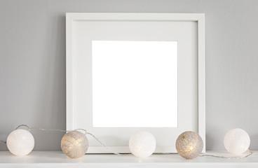 Mockup scene with white frame