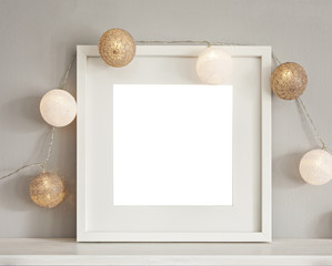 Frame mockup with baubles