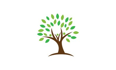 green tree leaf logo